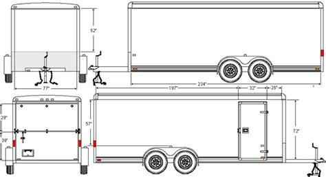 trailer template cargo box home plans studio design gallery best design