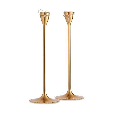 kerzenhalter gold buy vera wang for wedgwood knots taper candle holders