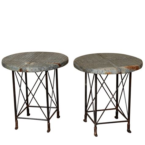 Industrial Side Table Gideon Industrial Side Tables Found Vintage Rentals