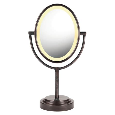 conair reflections lighted mirror conair oval oiled bronze double sided lighted mirror