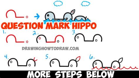 tutorial questions on c how to draw cartoon swimming hippo from question mark