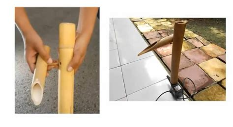 cara membuat kerajinan air mancur bambu cara membuat air mancur bambu dengan bahan yang sederhana