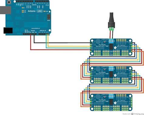 arduino i2c tutorial pdf chaining drivers adafruit 16 channel servo driver with