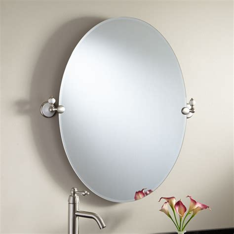 Modern Oval Bathroom Mirrors 31 Quot Adelaide Oval Tilting Mirror Modern Bathroom