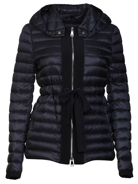 Padded Tie Front Jacket moncler moncler tie waist padded jacket s