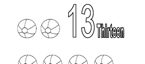 coloring pages for the number 13 best photos of preschool number coloring pages 13 number