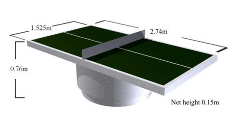 Dining Room Table Sizes by Dimensions Of Outdoor Table Tennis Tables
