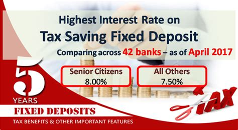 bank deposit tax highest tax saving bank fixed deposit rates 80c april 2017