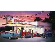 50s Service Station 1957 Chevrolete Convertible 956 Chevy Tow Truck