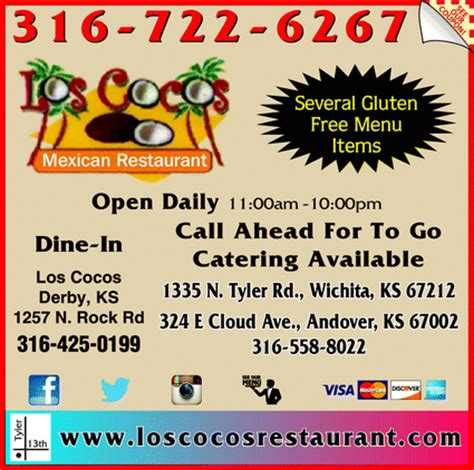 printable restaurant coupons wichita ks los cocos mexican restaurant wichita ks 67212 yellowbook
