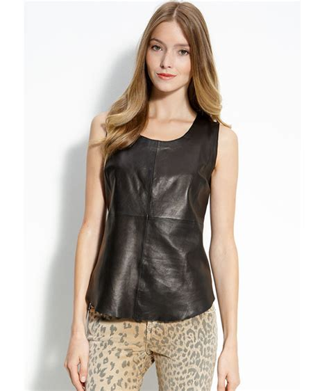 Best Leather by Fall Trend To Try Leather Tops Shirts What S Haute