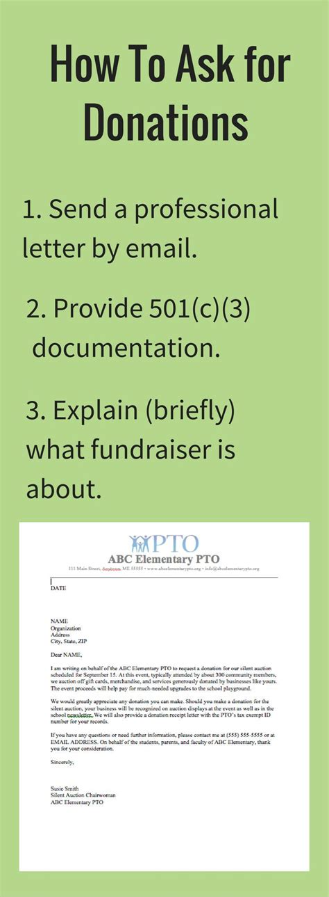 charity letter to our free donation letter request template