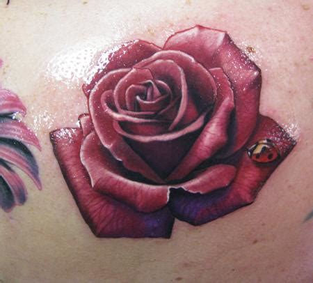real rose tattoo realistic by steve wimmer tattoos