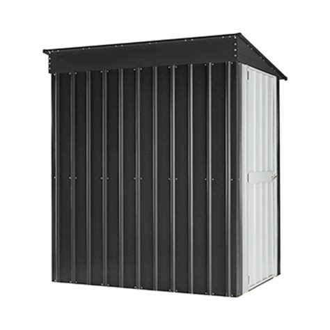 4 X 6 Storage Shed by Globel 4 X6 Lean To Storage Shed Slate Gray And Aluminum