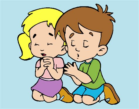 imagenes niños rezando dibujo de ni 241 os rezando pintado por en dibujos net el d 237 a