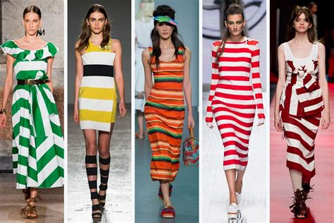 Summer 08 Trends On The Catwalk by Bold Stripes A Key Catwalk Trend For 2016 The Fashion
