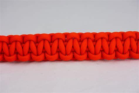 Orange Paracord Bracelet   One Color w/ Red Button ? Unity Band
