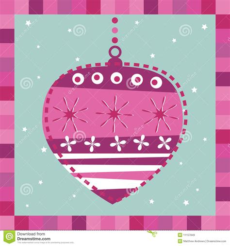 Card Decoration by Pink Decoration Greeting Card Royalty Free Stock Images