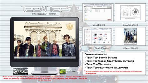 theme for windows 7 kpop 2013 theme teen top kpop for windows 7 by hkk98 on
