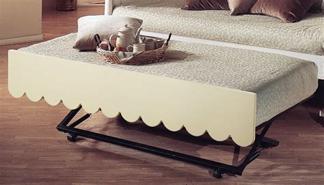 daybed with pop up trundle bed scallop day bed with pop up trundle by alligator enterprise