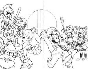 smash brothers coloring pages free printable