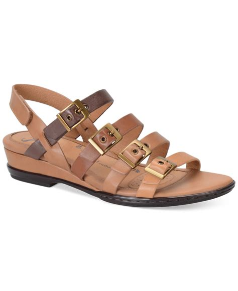 flat brown sandals s 246 fft sapphire flat sandals in brown lyst