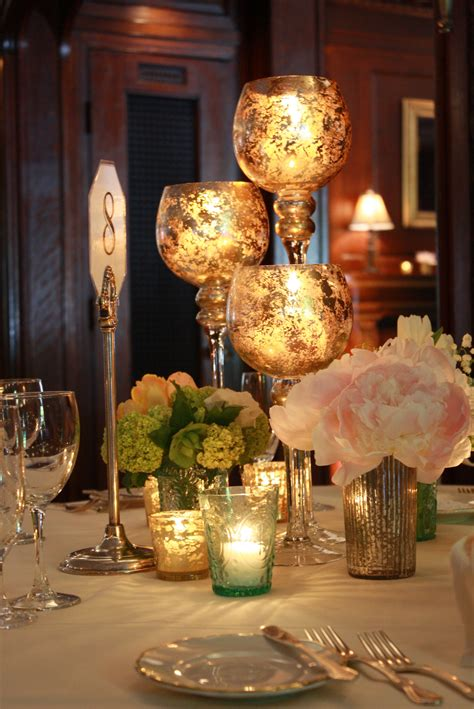 centerpieces uk mercury glass centerpieces petalena creative designs