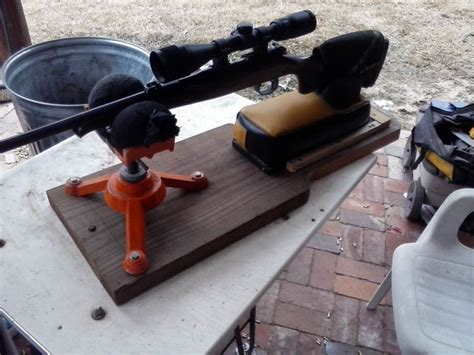 build shooting bench rest webster s redneck shooting rest