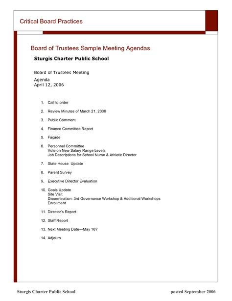 corporate board meeting minutes template best photos of exle of board meeting agenda sle