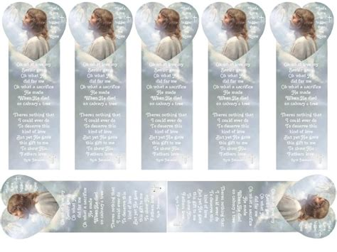 christian bookmark templates 9 best images of free printable typable christian