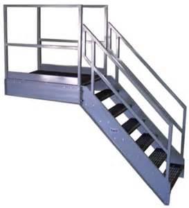 Aluminium Handrail Brackets Galvanized Stairs Metal Stairs Osha Prefab Stairways
