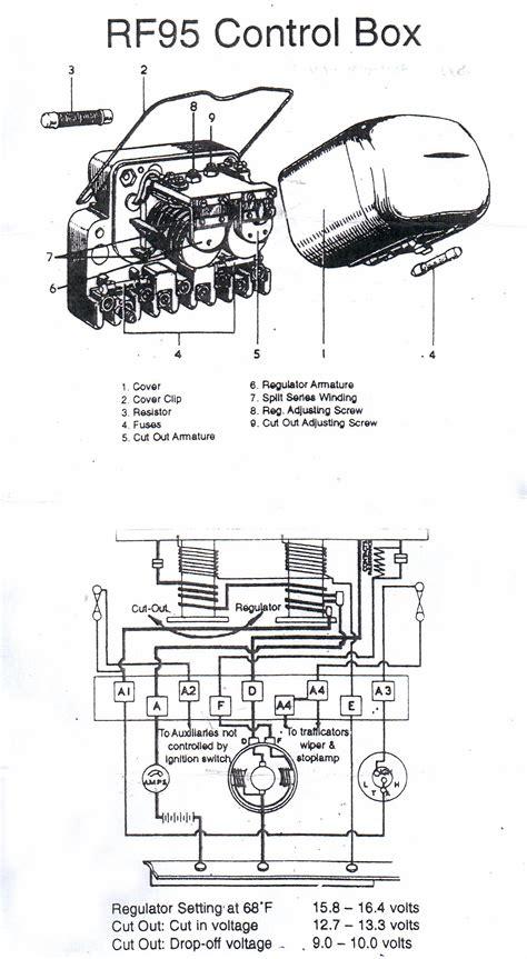 100 wiring diagram for lucas voltage regulator