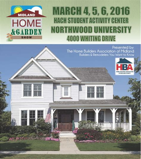 home and design show 2016 2016 midland home and garden show complimentary passes