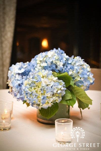 blue hydrangea centerpieces blue hydrangea centerpiece