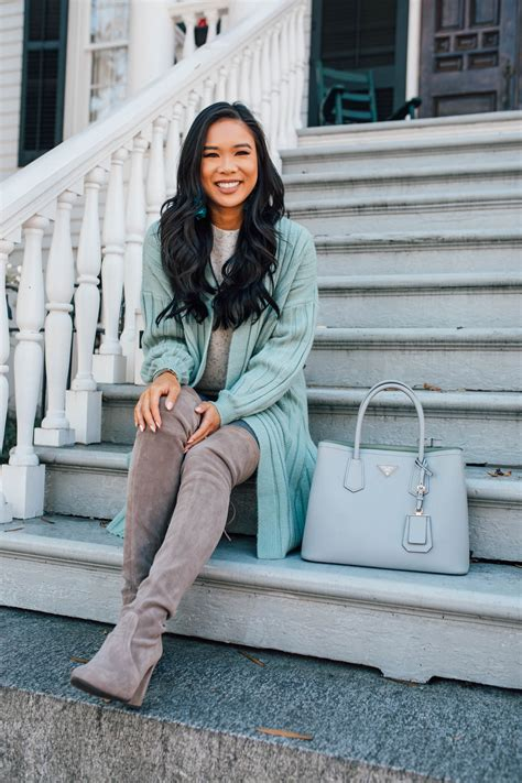 style  mint green cardigan  fall  winter