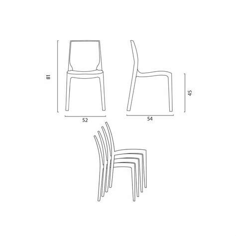 gran casa sedie sedia da cucina salotto bar in polipropilene impilabile