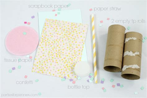 How To Make Popping Paper - confetti popper for pennies
