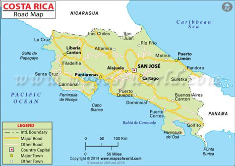 detailed road map of costa rica costa rica spiritual retreat change your at our