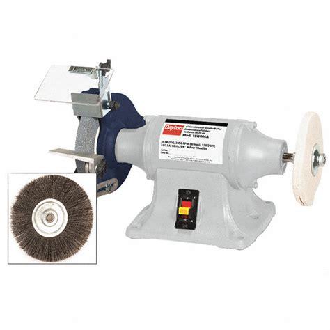 bench grinder polisher buffer nz dayton 8 quot bench grinder buffer 120 240v 3 4 hp 3450 max