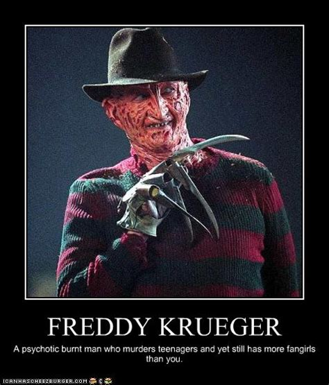 Funny Horror Movie Memes - funny creepy freddy krueger