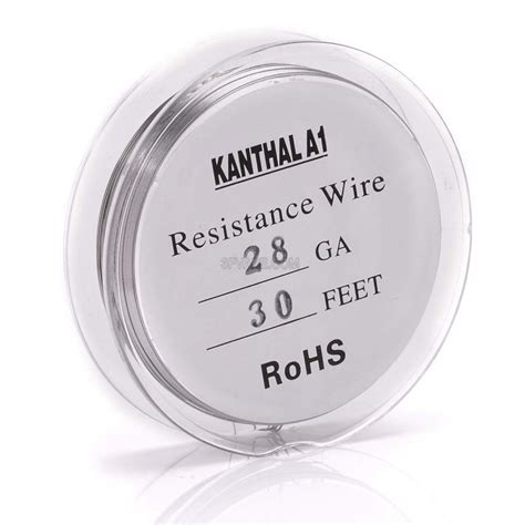 Vaportech Rba Coil Khantal A1 24 Awg authentic kanthal a1 28 awg resistance wire for rba