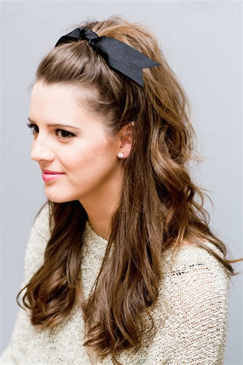 hairstyles for prom half up half down bow casual half up half down hairstyle for 2016 2017