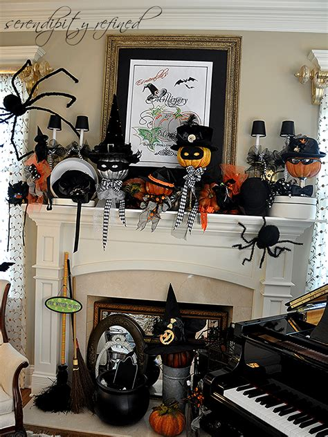 halloween decorating ideas for living room trees and witch serendipity refined blog halloween mantel do you