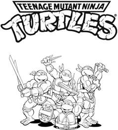 tmnt colouring pages