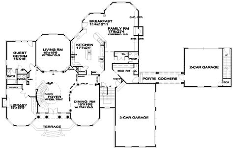 Porte Cochere Plans by Spacious European House Plan With Porte Cochere 13453by