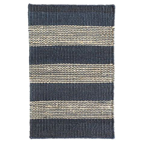 denim jute rug denim ticking woven jute rug mcgee co