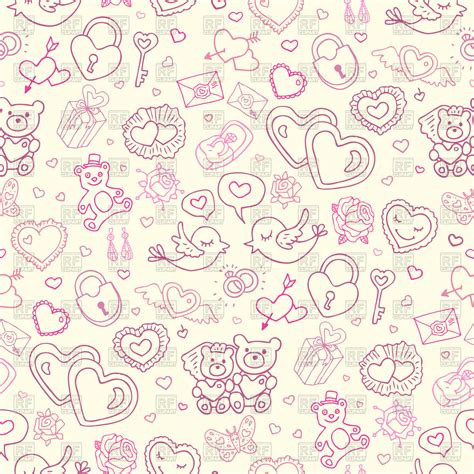 Wedding Card Pattern by Seamless Wedding Pattern Royalty Free Vector Clip