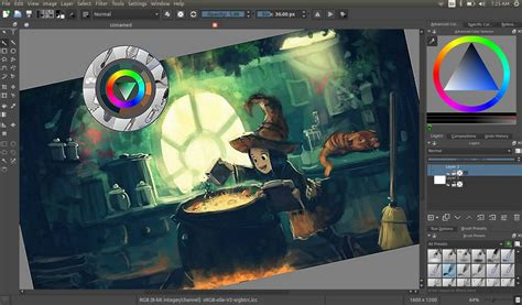 drawing programe highlights krita