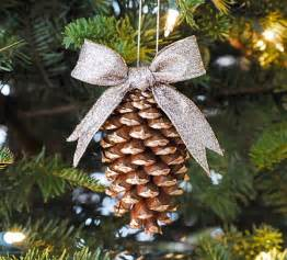 gold tipped pinecone ornament allfreechristmascrafts com