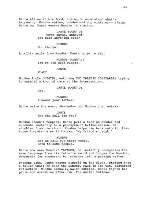 Devil May Cry Movie script